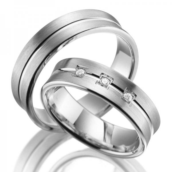 Stříbrné snubní prsteny SP-SI-004