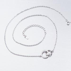 Stříbrný náhrdelník se zirkony SST-15889