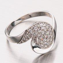 Prsten z bílého zlata 11-213