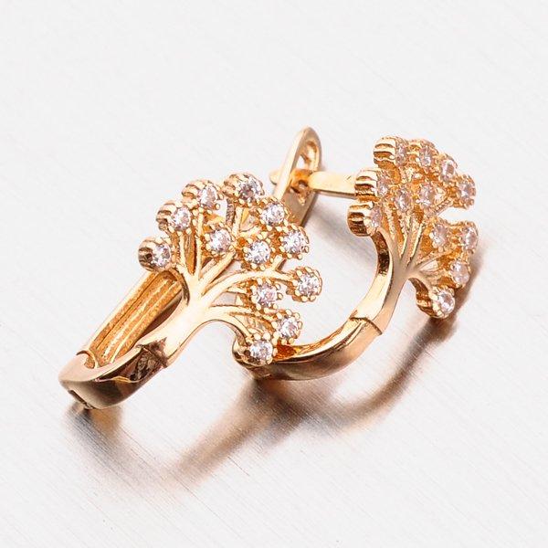 Náušnice z růžového zlata 12-488