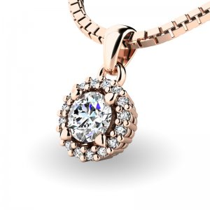 Luxusní přívěsek s diamanty 10927-CV-DIA