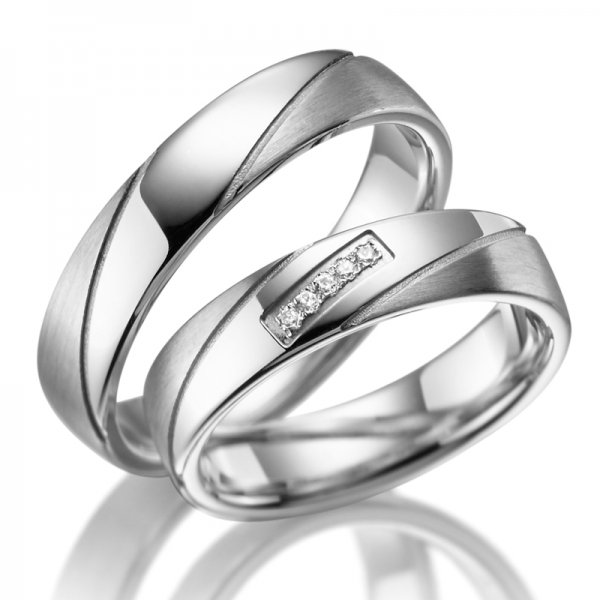 Stříbrné snubní prsteny SP-SI-009