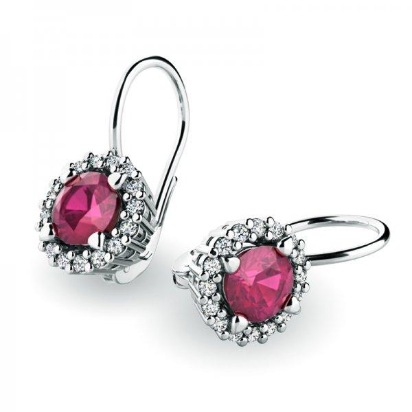 Luxusní náušnice s diamanty 10925-B-RUB