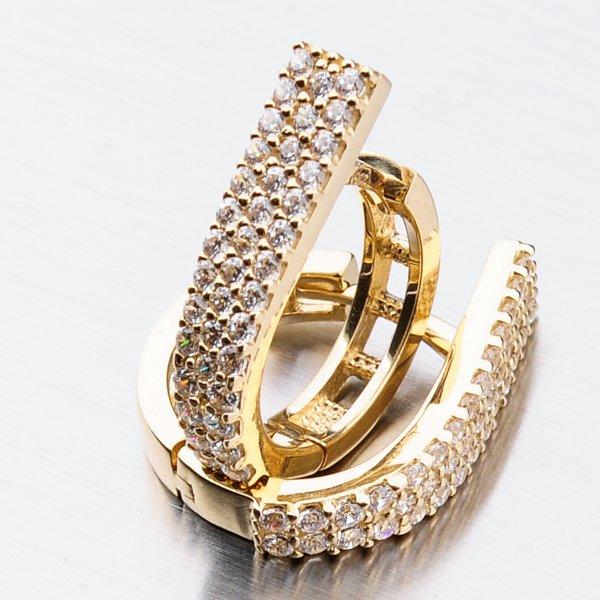 Kruhy ze žlutého zlata 12-536