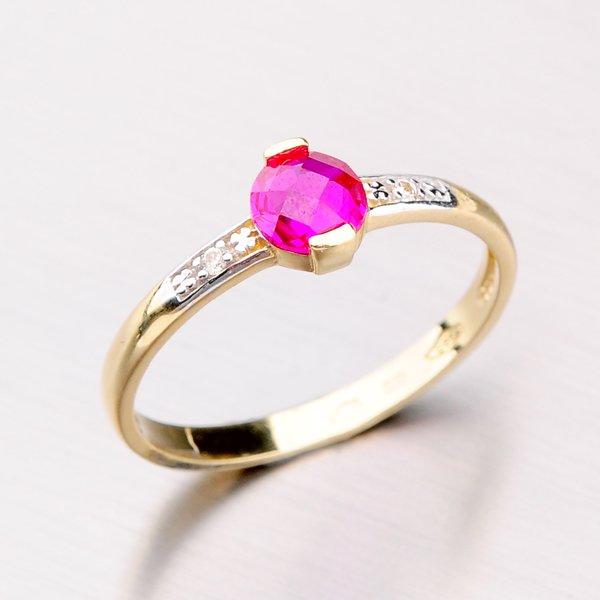 Zlatý prsten se zirkony 41-NF189C