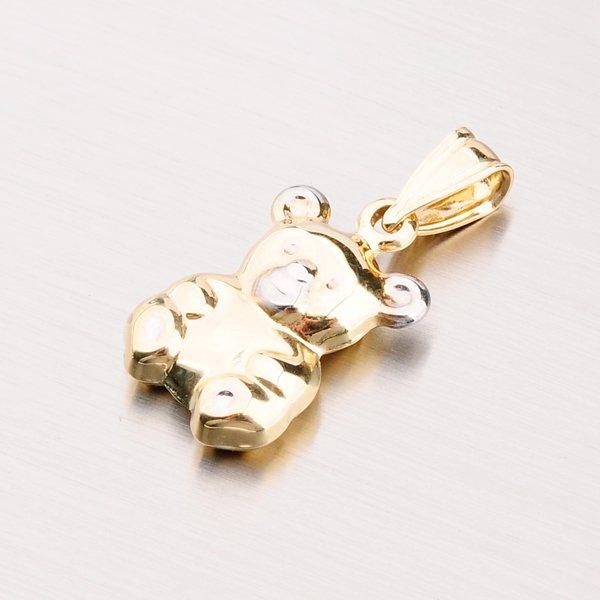 Zlatý přívěsek - medvídek 43-2468