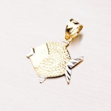 Zlatý přívěsek - ryba 43-21790