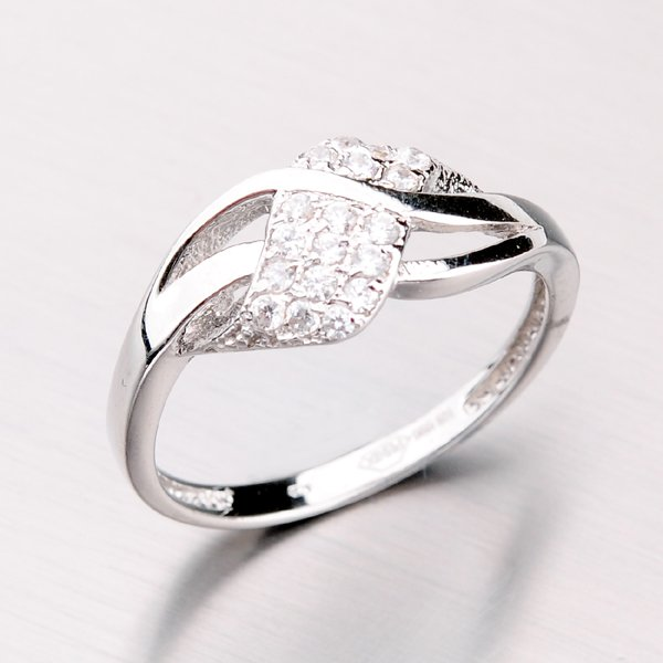 Zlatý prsten se zirkony 41-NR63B