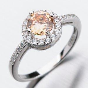 Stříbrný prsten se zirkony GST-11280