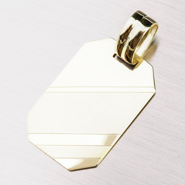 Destička ze žlutého zlata 43-2057