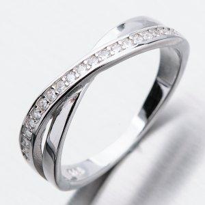 Stříbrný prsten se zirkony GST-11256