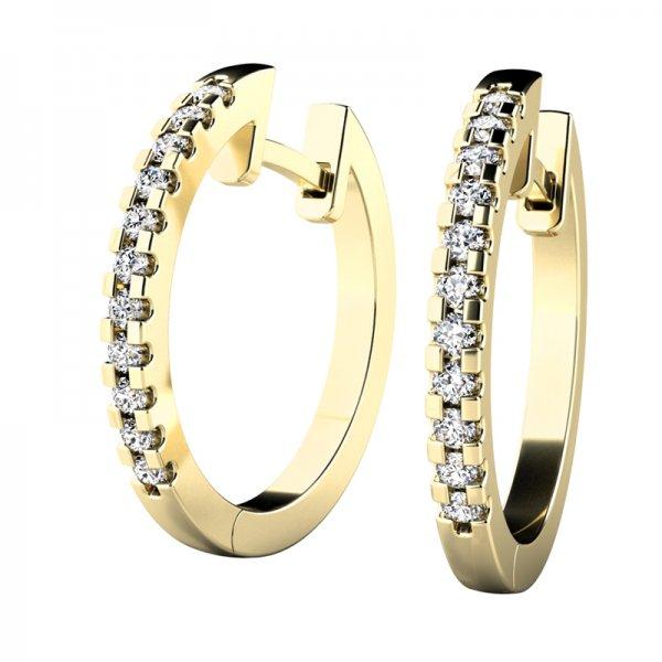 Náušnice kruhy s diamanty 10944-ZL