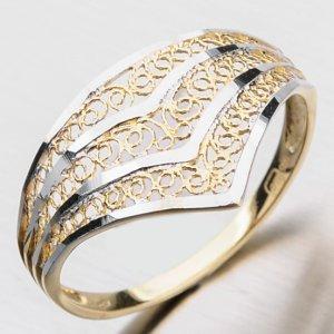Prsten ze žlutého zlata PKL 11-010