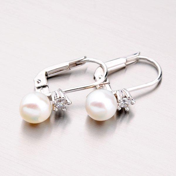 Zlaté perlové náušnice 42-31439