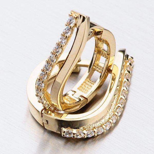 Kruhy ze žlutého zlata 12-526