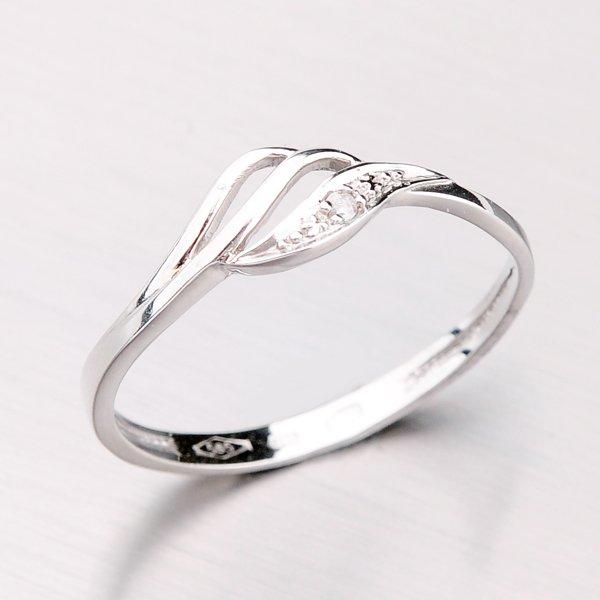 Zlatý prsten se zirkony 41-NF44B