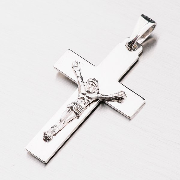 Stříbrný kříž s Ježíšem P1901676-1132-SLX