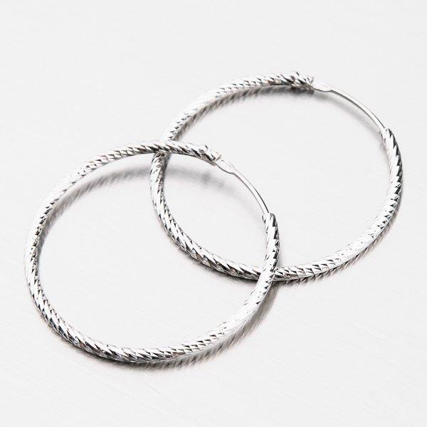 Třpytivé stříbrné kruhy 30 mm M8016