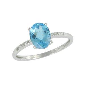 Zlatý prsten s topazem a diamanty GKW48549TPZ