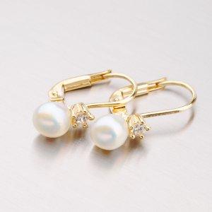 Zlaté perlové náušnice 42-31445