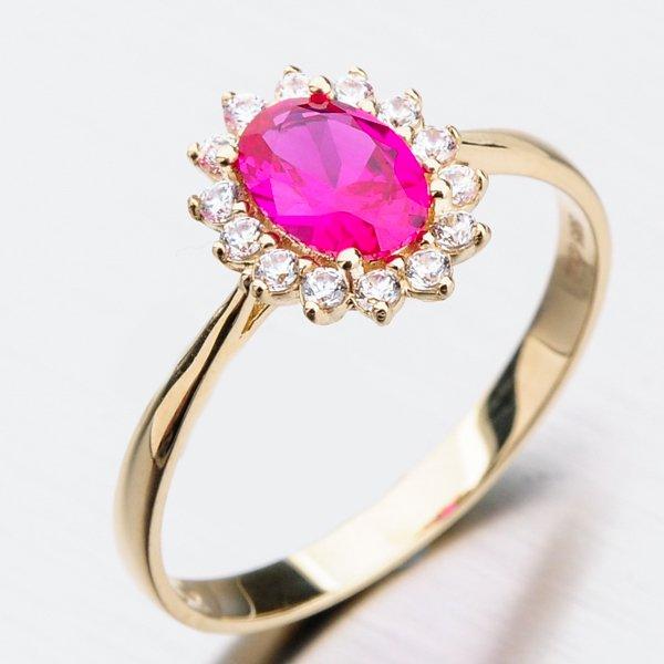 Zlatý prsten s rubínem 11-272
