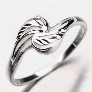 Prsten z bílého zlata 41-NP163B