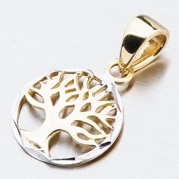 Zlatý přívěsek strom života 13-341
