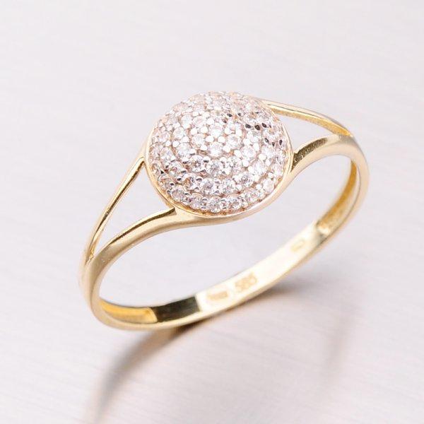 Zlatý prsten se zirkony 41-NY173