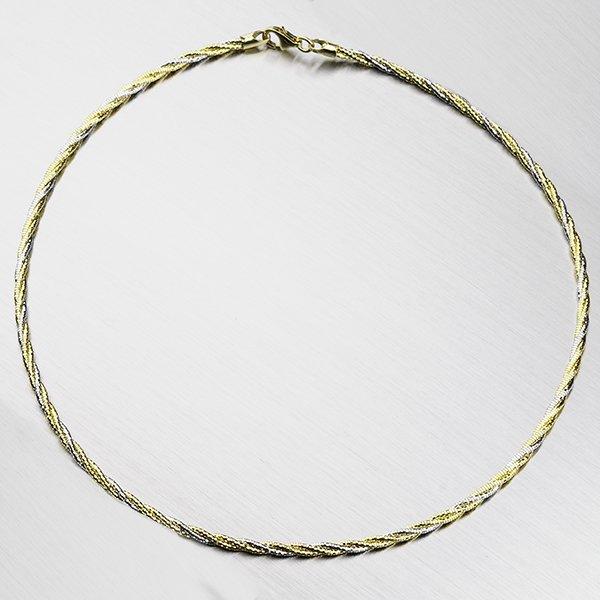 Stříbrný náhrdelník CHRS-SPRING-1-3L-TW-Y/W