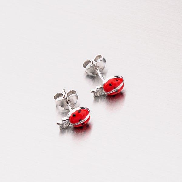 Stříbrné náušnice M604542SM-RED