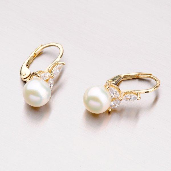 Zlaté perlové náušnice 42-32406
