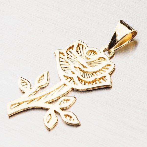 Zlatý přívěsek - růže 43-21619
