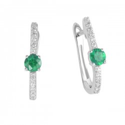 Náušnice se smaragdem a brilianty GKW46617SMAR