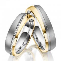 Ocelové snubní prsteny SP-ES-032