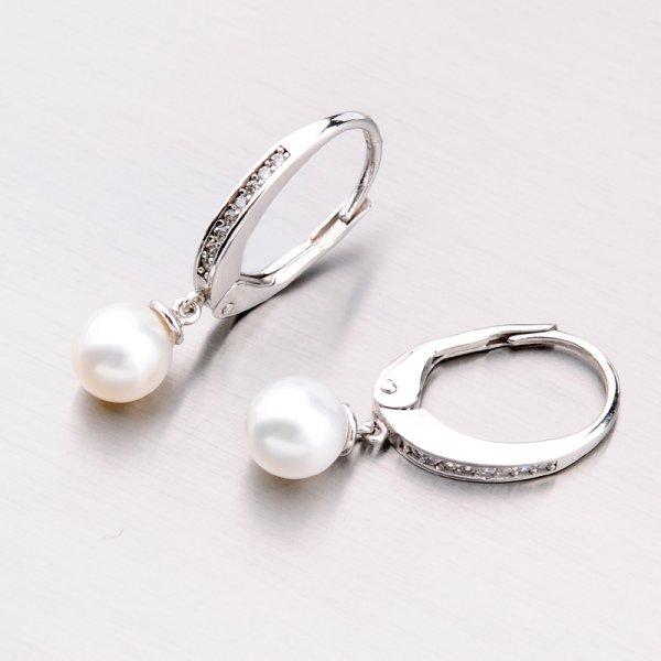 Zlaté perlové náušnice 42-32433