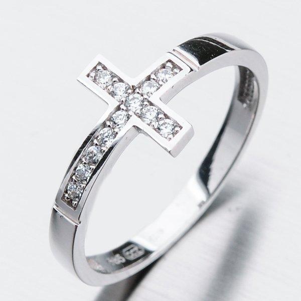 Zlatý prsten se zirkony 11-271