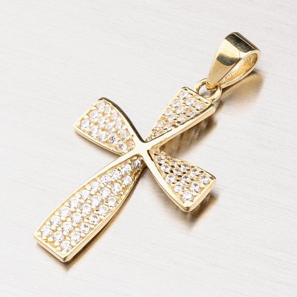 Zlatý kříž se zirkony 43-21522