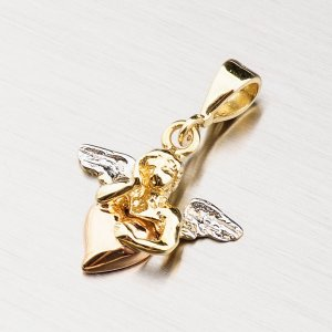 Zlatý přívěsek - andílek 43-2128