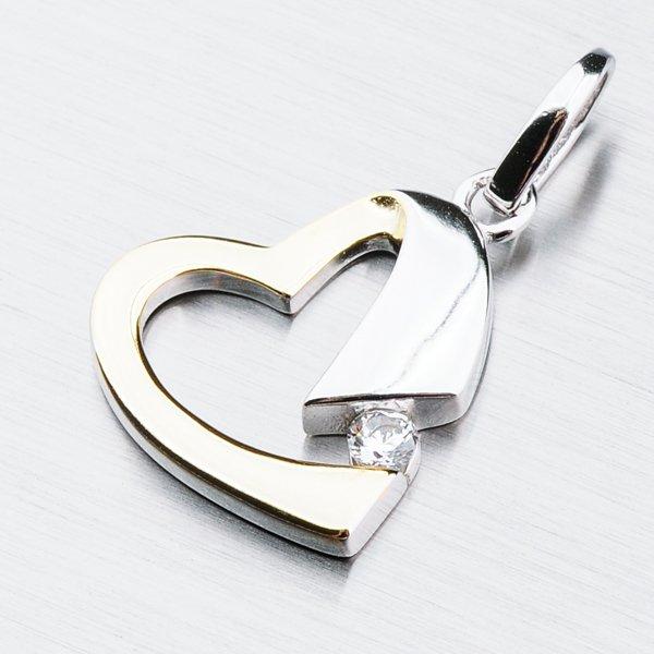 Stříbrný přívěsek srdce PKL-3057
