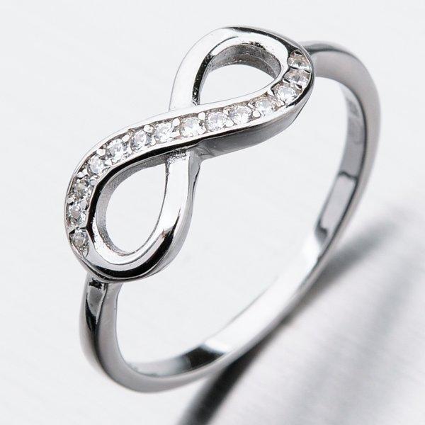 Stříbrný prsten se zirkony GST-11312
