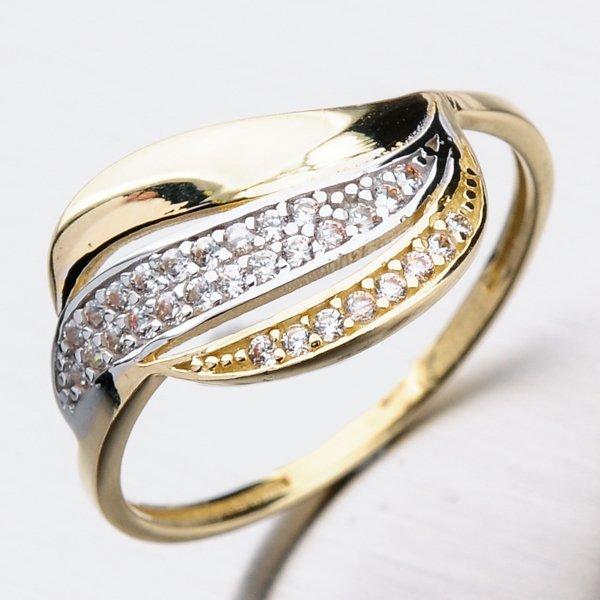 Zlatý prsten se zirkony PKL11-028