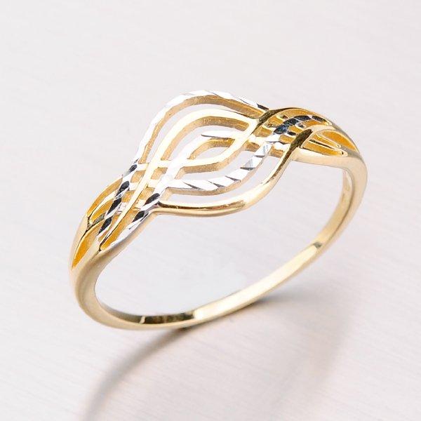 Prsten ze žlutého zlata 41-NP160