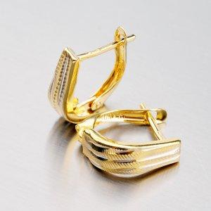 Zlaté visací náušnice 42-31005