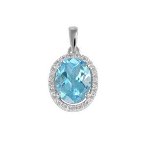 Přívěsek s topazem a diamanty GKW47253TPZ