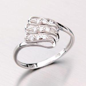 Zlatý prsten se zirkony 41-NP133B