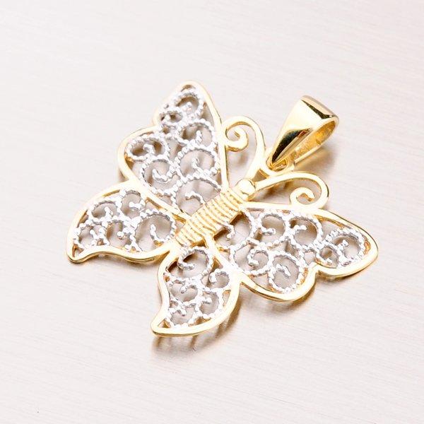 Zlatý přívěsek - motýl 43-2647