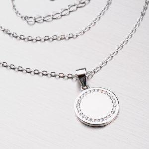 Stříbrný náhrdelník se zirkony SETST-15187SR