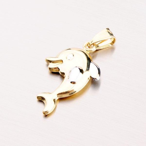 Zlatý přívěsek - delfín 43-21387
