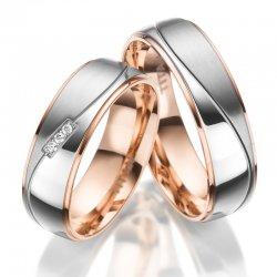 Titanové zlacené snubní prsteny SP-TI-025