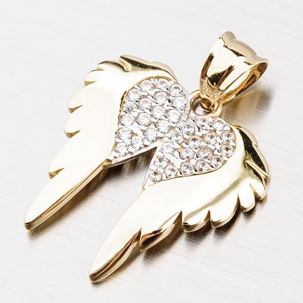 Zlatý přívěsek - andělská křídla 43-21773